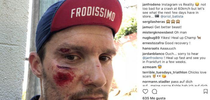Jan Frodeno sufre un accidente mientras pedaleaba a 60 Km/h